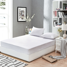 160X200cm Smooth Waterproof Mattress For Box Spring Mattress Cover BedBug Proof and Hypoallergenic Fitted Sheet(China)