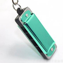 Color Random Mini Harmonica Keychain Mouth Organ Keyring Pendent Rad Silver Tone(China)