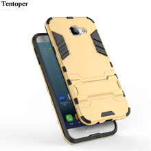 For Samsung Galaxy A5 A7 A8 2016 PC+Silicone 3D Heavy Duty Military Anti Shock Kickstand Armor Case For Samsung A710 A510 A810