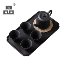TANGPIN 2017 new arrival japanese style black crockery teapot ceramic tea cup coffee pot set japanese tea set with tray