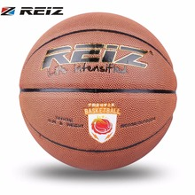 REIZ Basketball Official Size 7 PU Leather Basketball Sport Practice Competition Training Supplies Indoor Outdoor Basketball(China)