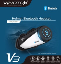 New Arrival Vimoto Brand V3 Multi-functional GPS 2 Way Radio Bluetooth Motorcycle Helmet Bluetooth Headset(China)