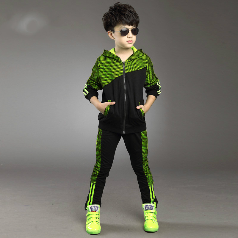 Male Female Childrens Spring  Autumn Summer Childrens Fashion Comfort Sports Suit Two Pieces<br>