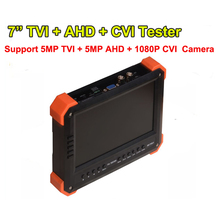 "Freeshipping 5MP 4MP 3MP TVI AHD Security tester with HDMI input,CCTV HD-TVI & AHD & CVI CCTV Tester Monitor with 7"" LCD screen"