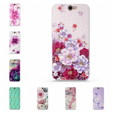 Luxury Floral Painted 3D Relief for HTC One A9 Case Soft Silicone Flower Pattern Cell Phone Cases Cover For HTC A9 Phone Cases
