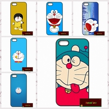 Japanese Fashion Lovely Doraemon Cover case for iphone 4 4s 5 5s 5c 6 6s plus samsung galaxy S3 S4 mini S5 S6 Note 2 3 4  DE0118