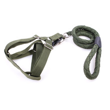2017 New Arrival Dog Lead Collar Sets Army Green Top Quality Nylon Leads For Big Dog Trainning Walking Free Shipping(China)