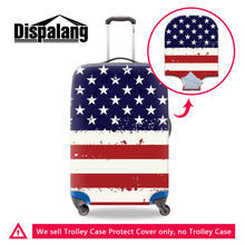 Country USA Flag Stretchable Elastic Luggage Protective Dust Cover For 18-30 Inch Trolley Suitcase Waterproof Cover With Zipper(China)