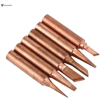 6pcs/set 900M-T Copper Solder Tip Iron Tips Lead-free Low Temperature Soldering Station Tool Set For 852D 936 937 938 969 8586