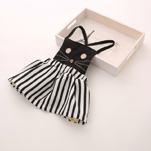 Free shipping,Hot sale clothes child clothing ,Casual,baby girl clothing,cat,Summer autumn cat dress dresses,Korean,girl dress(China)