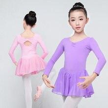 Enfants À Manches Longues Ballet Justaucorps Filles Enfants Coton De  Formation de Danse Robe Mousseline de 9ffe800baa8