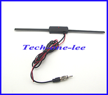 2M Cable 14db Car FM Antenna VHF UHF Auto TV Aerial 20db Booster Amplifier drop shipping(China)