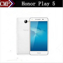 "Original HuaWei Honor Play 5 4G LTE Mobile Phone MTK6735P Quad Core Android 5.1 5.0"" IPS 1280X720 2GB RAM 16GB ROM Easy Key(China)"