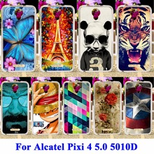 Flexible Soft TPU Cell Phone Cases For Alcatel OneTouch Pixi 4 5.0 inch OT-5010 5010D 3G Version Housing Skin Shell Covers