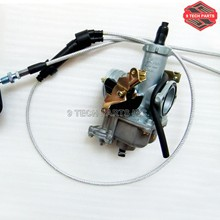 PZ30 30mm Carburetor Accelerating Pump Cable Choke Carb + Dual throttle cable Kit for ATV Dirt Bike Pit Quad 200cc 250cc