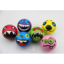 Lovely Soft Anti-stress Balls Toys Outdoor Activities Entertainment Children Pu Laugh Face Toy Kids Toys