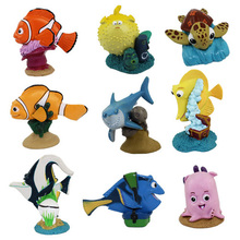 High quality 9 pcs/lot finding Nemo pvc cartoon toy tall 3-7cm.Professional design animal dolls as gift