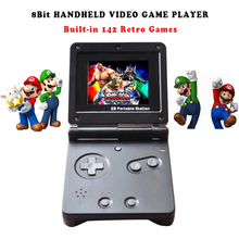SOROPIN 8 Bit GB Station SP PVP Kid Handheld Video Game Console With 142 Games 2.7'' LCD Retro Portable Game Player For Children