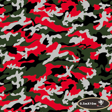 NO.HFJ031,Width 0.5M,10m length,hydro  green red canouflage camo hydrographics Water Transfer Printing Film Hydrographic Film