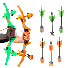 Hot Child Boy Girl Bow Arrow Outdoor sport toy Zing Air Storm Fire Tek Curve Bow With Refills Whistle 3 Arrows Kids Toy AS979