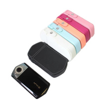 Black/White/Pink/Hot Pink/Yellow/Blue Digital Camera Bag Skin Leather Case Cover For Casio TR750 TR 750