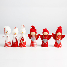 Cute Christmas Angel Doll Christmas Tree Hangings Decoration Christmas Angel Snowman Shaped Hanging Xmas New Year Ornaments(China)