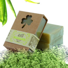 100g Organic Handmade Matcha Green Tea Powder Soap Whitening Moisturizing Cleansing Soap Remove Acne Cleansing Bath Bar Soap(China)