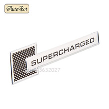 Aluminum Alloy Car Stickers Supercharged Decals Emblem Decorations Badge Range Rover Audi Jaguar Xj Xf Bmw Chrysler 300c Kia