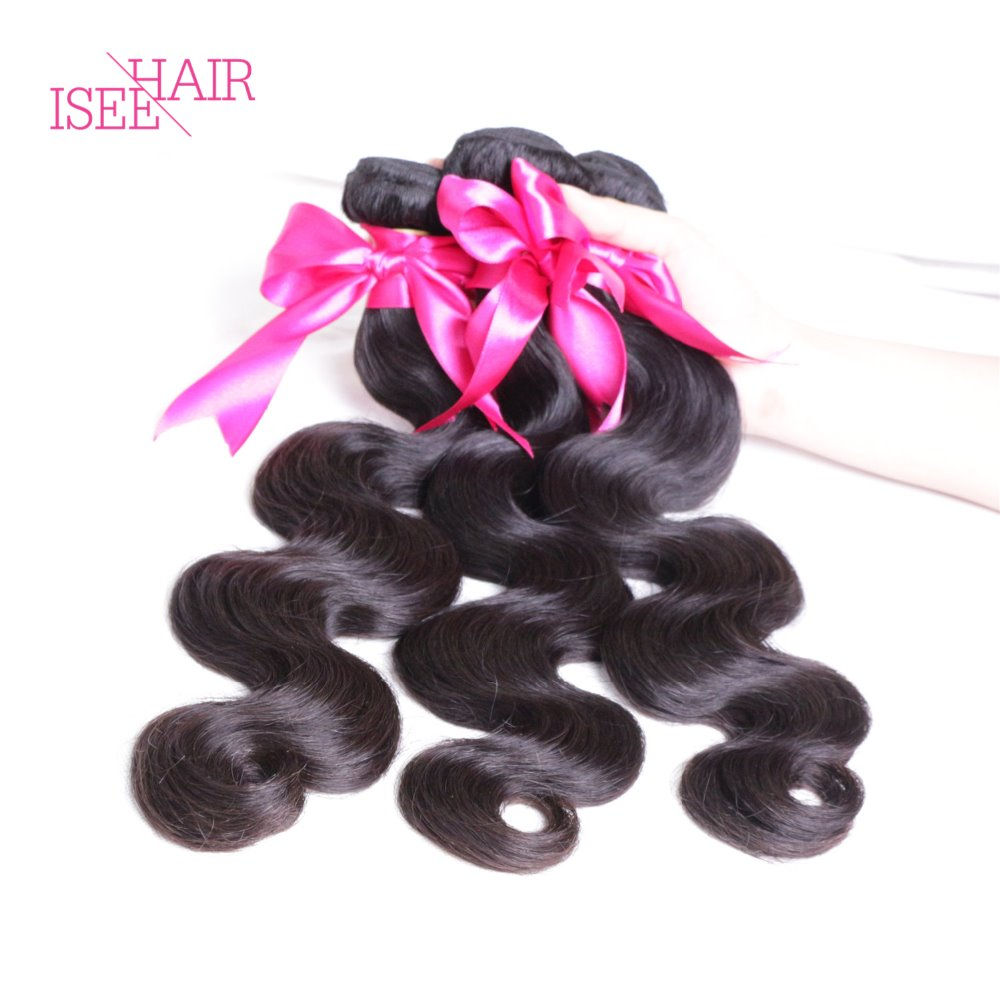Isee Hair Products Brazilian Virgin Hair Body Wave Queen Weave Beauty Human Hair Weave 8A Brazilian Body Wave Wet And Wavy Hair<br><br>Aliexpress