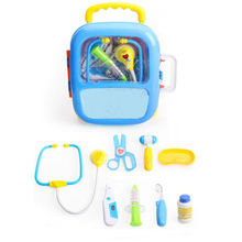 1set New Baby Kids Funny Doctor Play Sets Simulation Medicine Box Pretent Toys Stethoscope Injections Funny Game Children Gifts