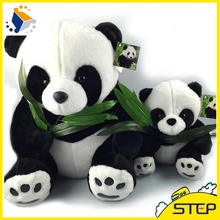 40CM Giant Panda Plush Toys Sitting Eat Bamboo Panda Dolls Soft Stuffed Toy Gifts For Girls Kids Best Price High Quality ST30(China)