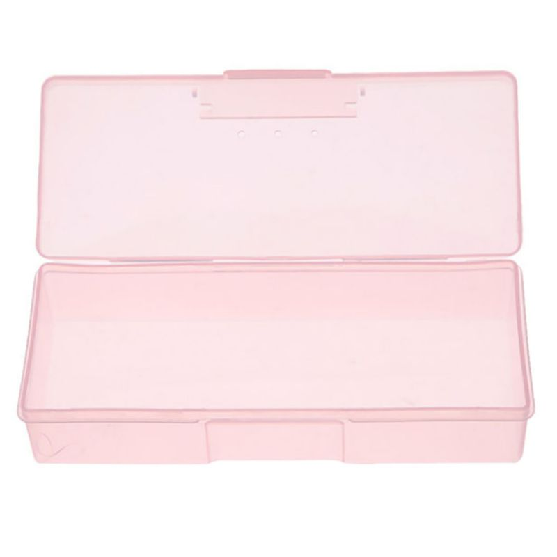 19 X 7.5 X 3.8 Cm Plastic Transparent Nail Supplies Tools Storage ...