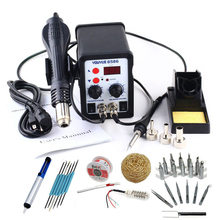 220V / 110V 700W 2 In 1 SMD Rework Soldering Station Hot Air Gun Solder Iron For Welding Repair Better Than ATTEN with Free Gift