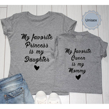 EnjoytheSpirit Cute Daugth and Mother Matching Tshirt Comfort T-shirt My Favorite Princess Is My Daughter Queen Mommy