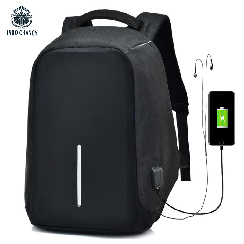 INHO CHANCY Anti Theft Backpack xd design bobby Waterproof Multi Function USB Rechargeable Back Pack  Laptop Bag School Bag Men<br>