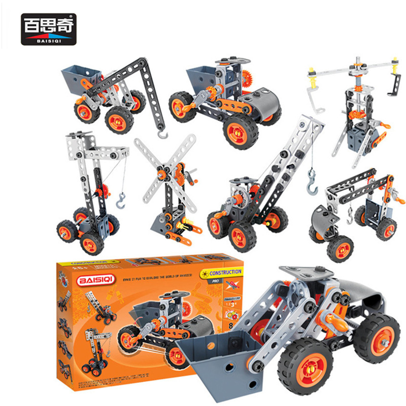 2018 New 8 IN 1 Model Truck Building Block Assembly Tool Set Car Vehicle Crane Windmill Creative Science Toy DIY Birthday Gift<br>