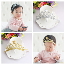 M MISM Children Crown Headbands Newborn Baby Rhinestone Princess Tiara Headwear Hairband Cute Star Headdress Hair Accessories(China)
