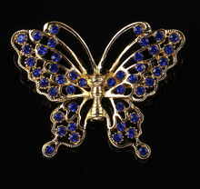 Fashion Alloy Cheap Brooches Crystal Butterfly Brooch pins Women Silver Brooch For Wedding party(China)
