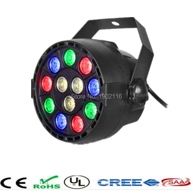 Flat led par stage light/rgbw 12x3W disco party lights/laser dmx luz Dj effect controller/Dj Equipment projector/luces discoteca<br><br>Aliexpress