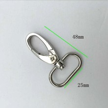 1 Inch ( 25mm ) Nickel Lobster Swivel Clasps Purse Accessories Silver Snap Hook 60pcs/lot