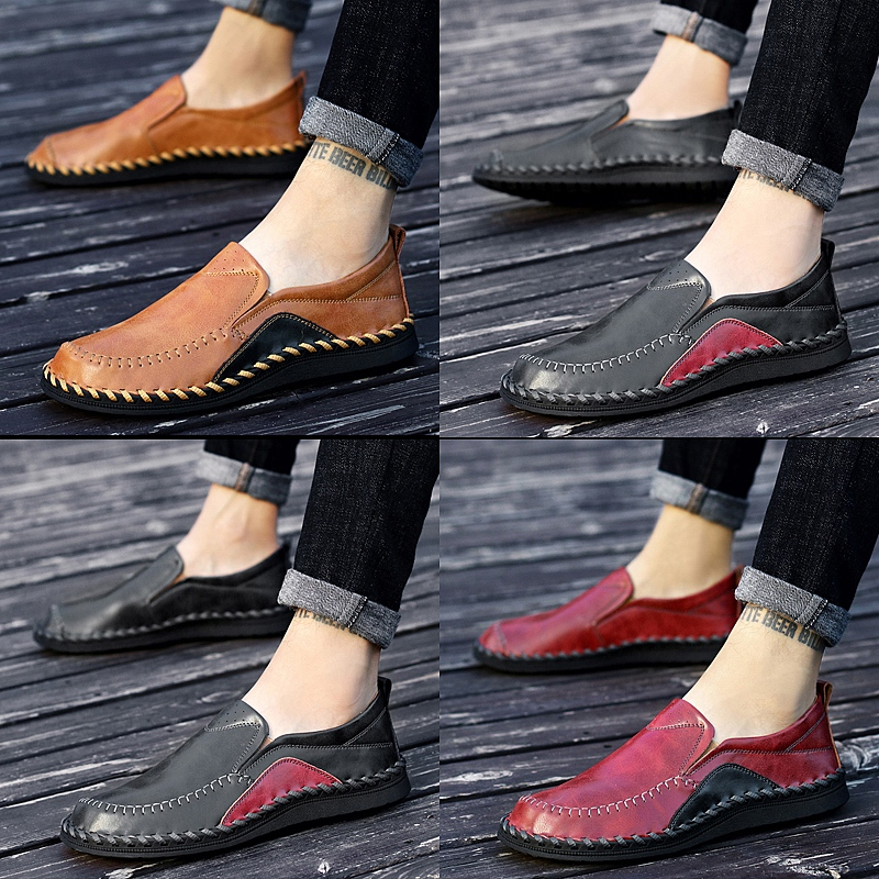 CIMIM Brand Mens Shoes Casual Leather Mens Fashion Loafers Oxford Shoes For Men Autumn Shoes Man Large Sizes Mocassim Masculino<br>