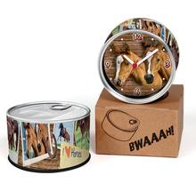 Free Shipping Brown Horse 2pcs/lot Running Horse Kitchen Fridge Magnets Aluminum Can Wall Clocks,Metal Tin Desk Clocks