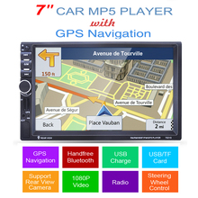 2 din car mp5 player GPS USB universal car radio audio auto car parking sensor stereo in dash Bluetooth Free map+Camera For VW(China)