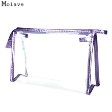 Naivety New Fashion Women Clear Waterproof Makeup Storage Pounch Lady Transparent Cosmetic Bag 11S60921 drop shipping(China)