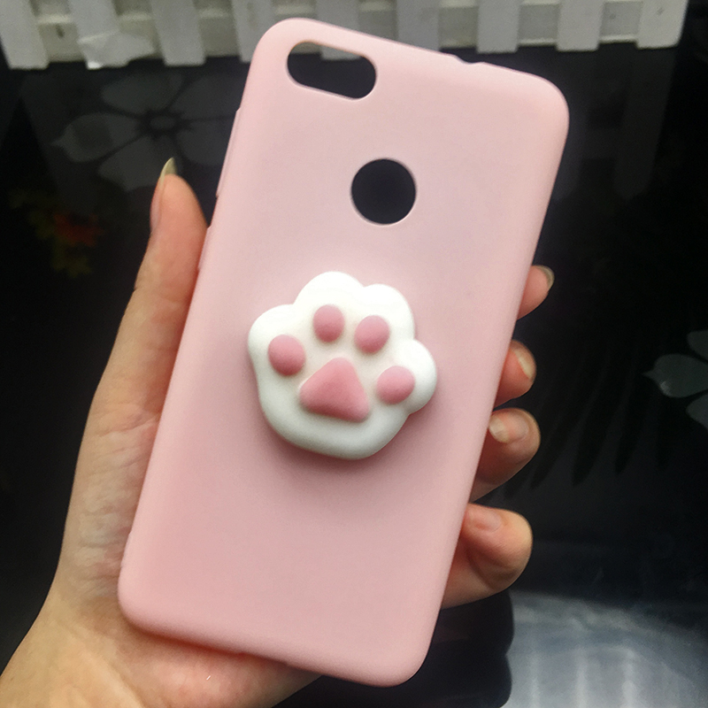 3d Squishy Cat Silicon TPU Soft Cases For Huawei P20 lite P20 pro P9 lite mini 2017 Candy Color Back Cover Honor 8 lite P10 plus (9)