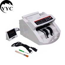 New LCD Display Money Bill Counter Counting Machine Counterfeit Detector UV & MG Cash Bank C0041