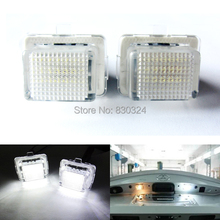 2X18SMD No Error LED Number License Plate Light OEM Replacement Bulb for Mercedes Benz W204,W212,W221,S400 S550 S63 AMG C216 CL(China)