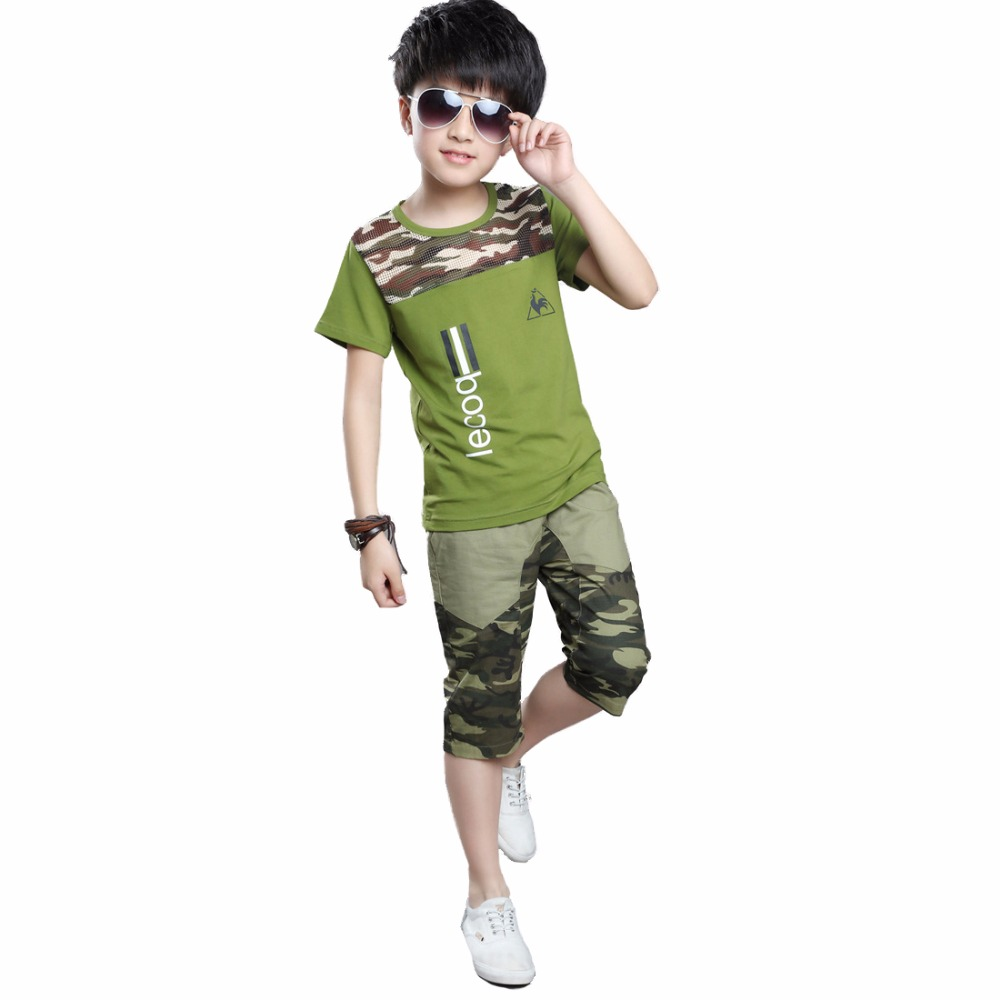 Fashion Boy Sport Army Suits Children Clothes for Baby Boy Leisure Child Clothing sets Camouflage for Teenage Kids New arrived <br><br>Aliexpress