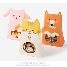 80 X Cute Cartoon Animal Bunny Favor Box Dog Cat Printable Easter Party Gift Box DIY Spring Celebration Bags(China)