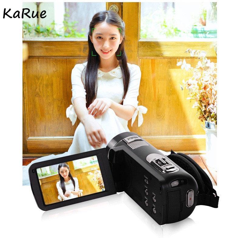 Karue HDV-Z816x Digital Zoom Max. 24MP 1080P Full HD Digital Video Camera Camcorder with Digital Rotation LCD Touch Screen 9